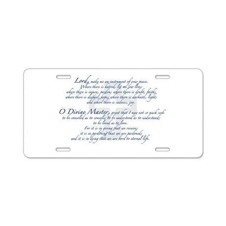 Prayer of St. Francis Aluminum License Plate