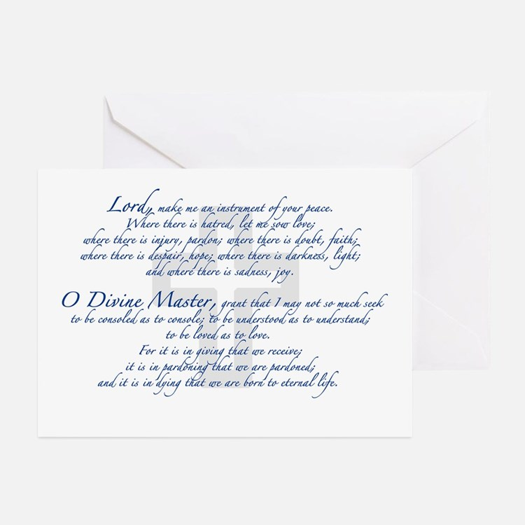 Prayer of St. Francis Greeting Cards (Pk of 20)