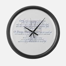 Prayer of St. Francis Large Wall Clock
