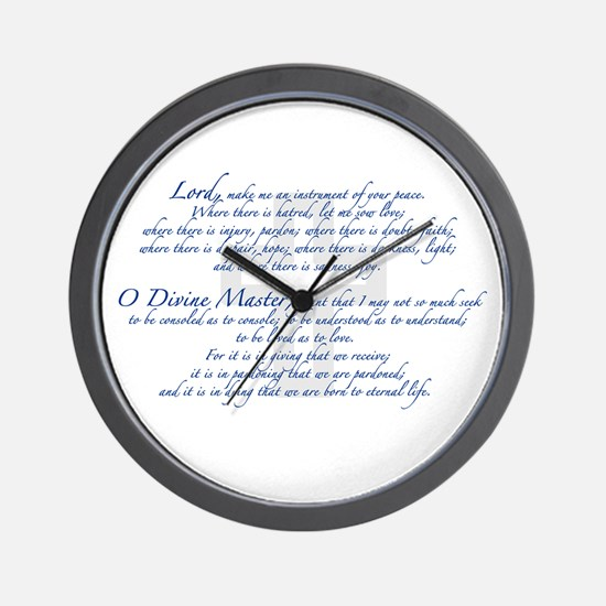 Prayer of St. Francis Wall Clock