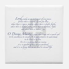 Prayer of St. Francis Tile Coaster