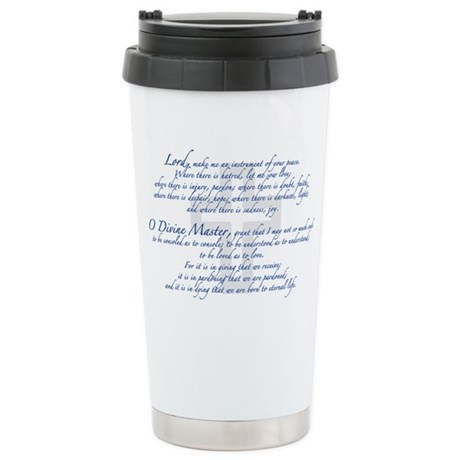 Prayer of St. Francis Stainless Steel Travel Mug