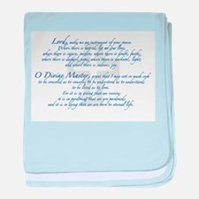 Prayer of St. Francis baby blanket
