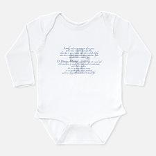 Prayer of St. Francis Long Sleeve Infant Bodysuit