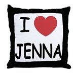 I heart jenna Throw Pillow