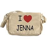 I heart jenna Messenger Bag