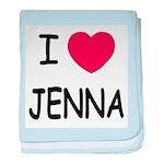 I heart jenna baby blanket
