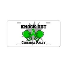 Knock Out Cerebral Palsy Aluminum License Plate