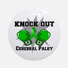Knock Out Cerebral Palsy Ornament (Round)