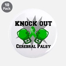 "Knock Out Cerebral Palsy 3.5"" Button (10 pack)"