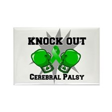 Knock Out Cerebral Palsy Rectangle Magnet