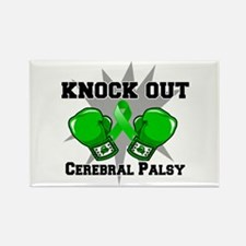 Knock Out Cerebral Palsy Rectangle Magnet (10 pack