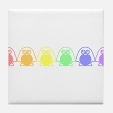 gay penguins.png Tile Coaster