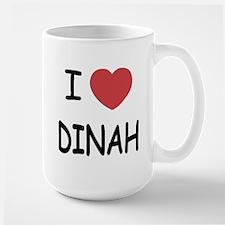 I heart dinah Large Mug
