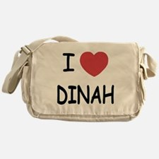 I heart dinah Messenger Bag
