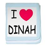 I heart dinah baby blanket