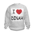 I heart dinah Kids Sweatshirt