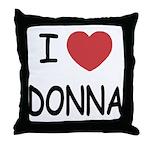 I heart donna Throw Pillow