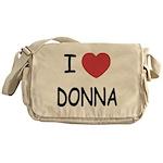 I heart donna Messenger Bag