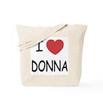 I heart donna Tote Bag