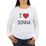 I heart donna Women's Long Sleeve T-Shirt
