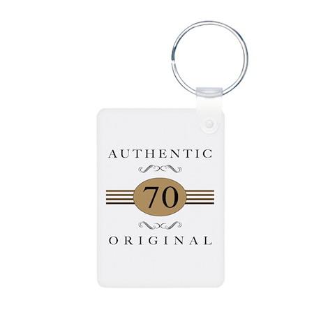 Authentic 70th Birthday Aluminum Photo Keychain
