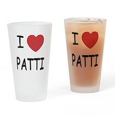 I heart patti Drinking Glass