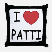 I heart patti Throw Pillow