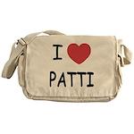 I heart patti Messenger Bag