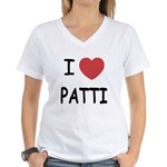 I heart patti Women's V-Neck T-Shirt