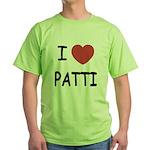 I heart patti Green T-Shirt