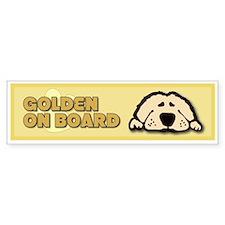 Golden on Board Bumper Bumper Sticker