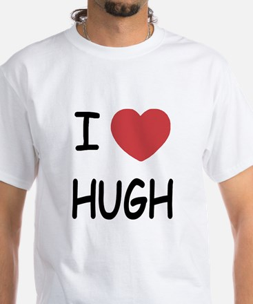 I heart hugh White T-Shirt