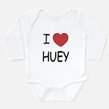 I heart huey Long Sleeve Infant Bodysuit