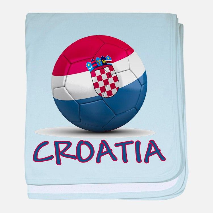 Team Croatia baby blanket