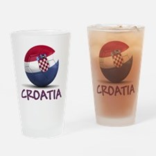Team Croatia Drinking Glass