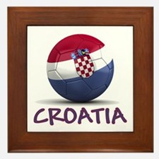 Team Croatia Framed Tile
