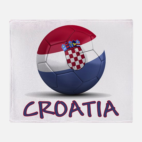 Team Croatia Throw Blanket