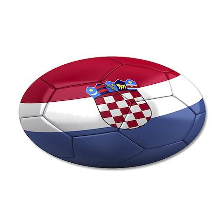 Team Croatia 38.5 x 24.5 Oval Wall Peel