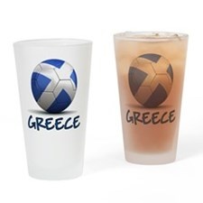 Team Greece Drinking Glass