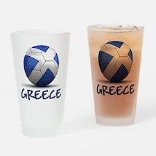 Team Greece Drinking Glass