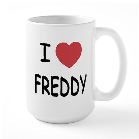 I heart freddy Large Mug