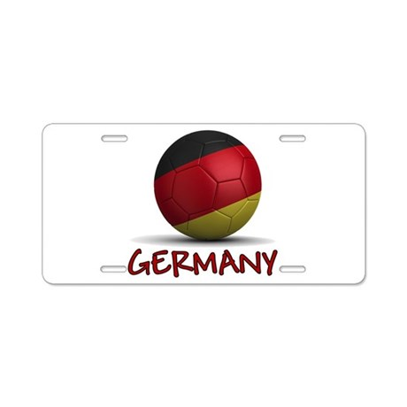 Team Germany Aluminum License Plate