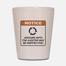 Auditor / Argue Shot Glass