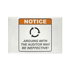 Auditor / Argue Rectangle Magnet