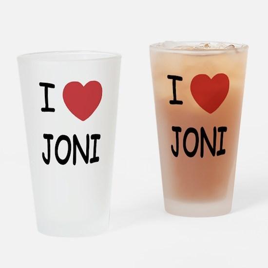 I heart joni Drinking Glass