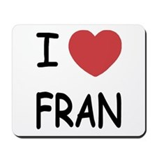 I heart fran Mousepad