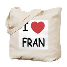 I heart fran Tote Bag