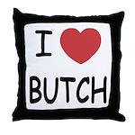 I heart butch Throw Pillow