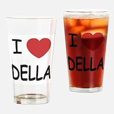 I heart della Drinking Glass